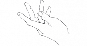 line-drawing-of-hand